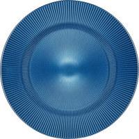 PLATZTELLER 34 cm - Blau, Basics, Glas (34cm) - NOVEL