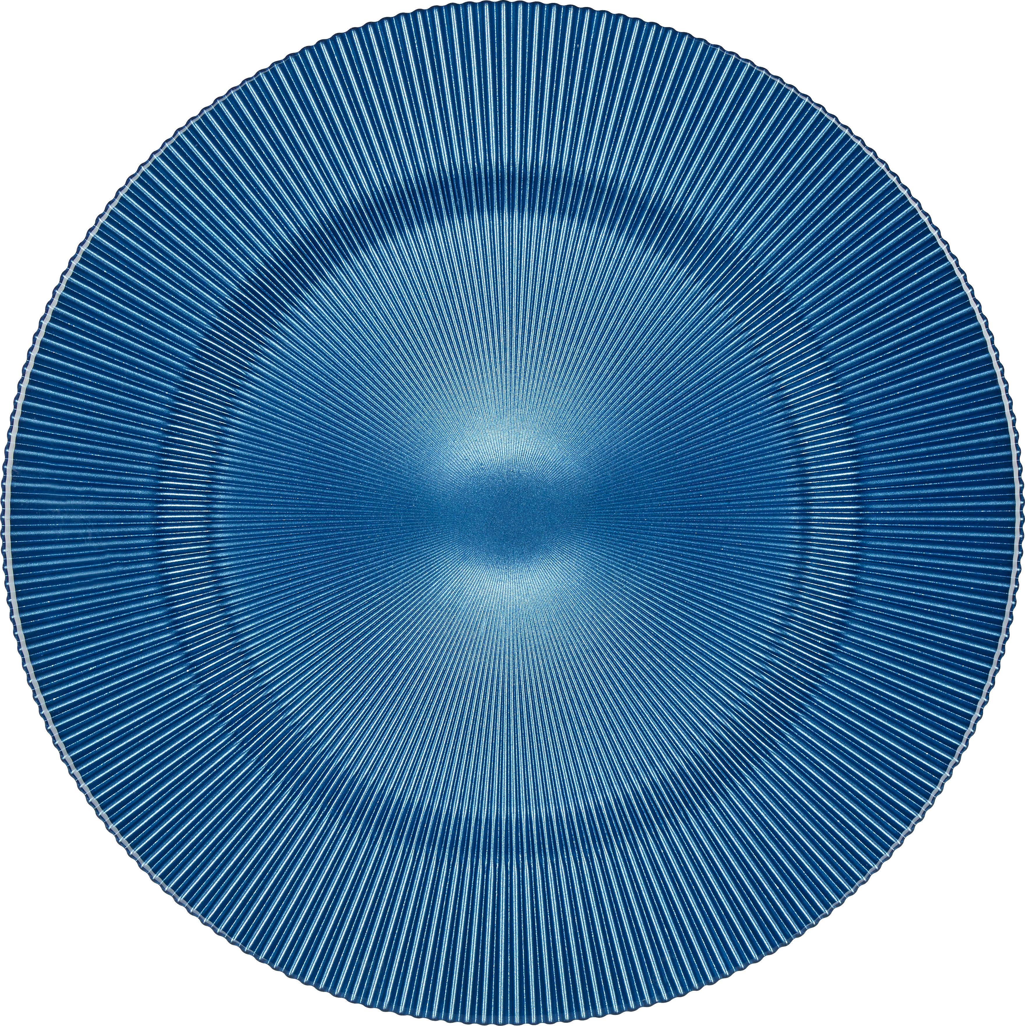 PLATZTELLER - Blau, Basics, Glas (34cm) - NOVEL