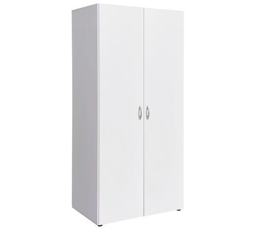 DREHTÜRENSCHRANK 2-türig Weiß  - Alufarben/Weiß, Design, Holzwerkstoff/Kunststoff (80/177/52cm) - Carryhome