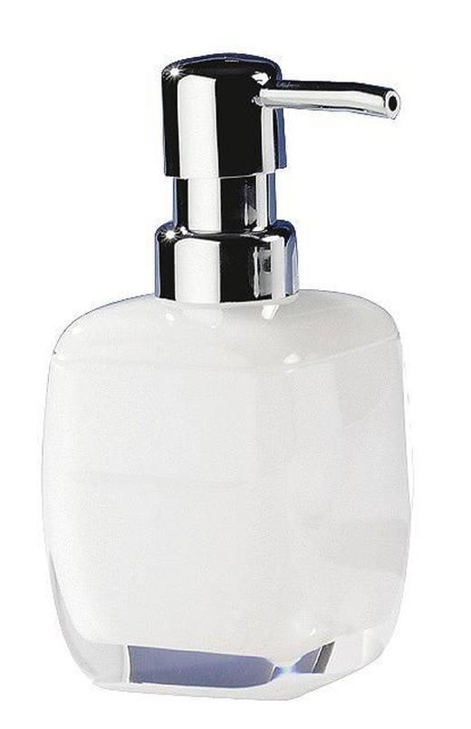 SEIFENSPENDER - Weiß, Design, Kunststoff (6,7/14,5/6,7cm)