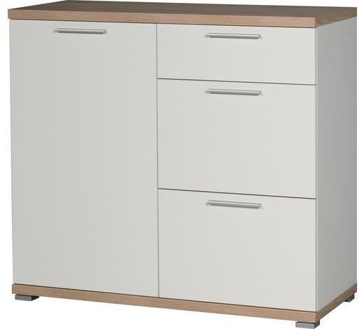KOMMODE 96/88/40 cm - Eichefarben/Alufarben, Design, Holzwerkstoff/Kunststoff (96/88/40cm) - Carryhome