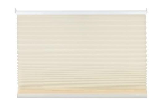 PLISSEE  halbtransparent   80/210 cm - Creme, Basics, Textil (80/210cm)