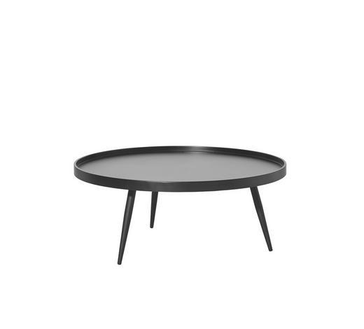 KONFERENČNÍ STOLEK - černá, Design, kov/kompozitní dřevo (90/37cm) - Carryhome
