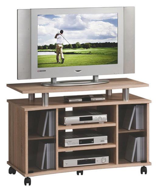 TV-ELEMENT Sonoma Eiche - Sonoma Eiche, KONVENTIONELL, Glas/Holzwerkstoff (100/68/45cm)