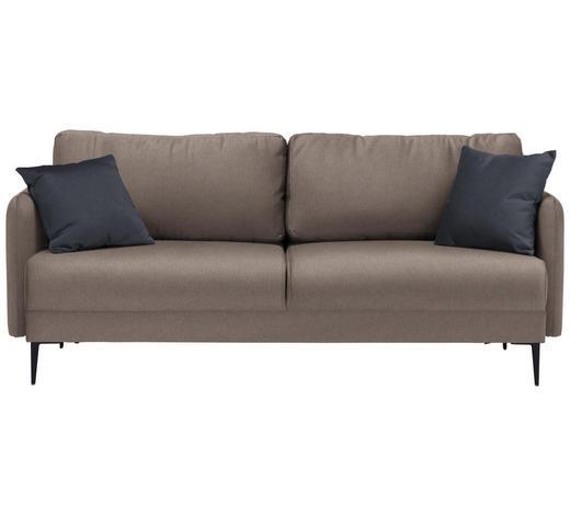 SOFA in Textil Braun  - Anthrazit/Schwarz, MODERN, Textil (200/72/85/88cm) - Carryhome
