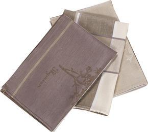KÖKSHANDDUK SET - mullvadsfärgad/gråbrun, Klassisk, textil (50/70cm) - Esposa