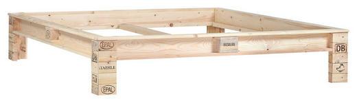 BETTRAHMEN 180/200 cm Naturfarben - Naturfarben, Trend, Holz (180/200cm) - Carryhome