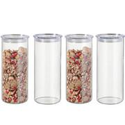 VORRATSGLÄSERSET 4-teilig - Klar, Design, Glas/Kunststoff (9,6/23,3cm) - Bohemia