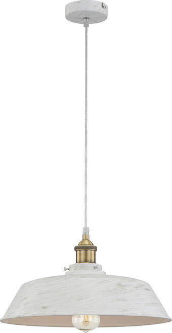 VISEČA SVETILKA - zlata/bela, Trendi, kovina (36/124cm)