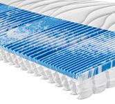 TASCHENFEDERKERNMATRATZE PERFECT TOUCH T 90/200 cm  - Weiß, KONVENTIONELL, Textil (90/200cm) - Sleeptex
