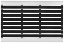 FUßMATTE 40/60 cm Uni Schwarz, Silberfarben - Silberfarben/Schwarz, KONVENTIONELL, Kunststoff/Metall (40/60cm) - Esposa
