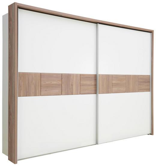 SCHWEBETÜRENSCHRANK in Kieferfarben, Weiß - Weiß/Kieferfarben, Design, Holzwerkstoff (270/211/61cm) - Carryhome