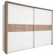 SKŘÍŇ S POSUVNÝMI DVEŘMI, bílá, barvy borovice - bílá/barvy borovice, Design, kompozitní dřevo (270/211/61cm) - Carryhome