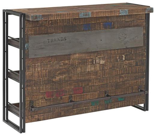 BAR - crna/smeđa, Design, drvo/metal (140/105/52cm) - Ambia Home