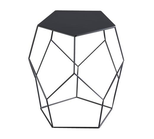 KLUB STOLIĆ - crna, Moderno, metal (40/45,5/39cm) - Xora