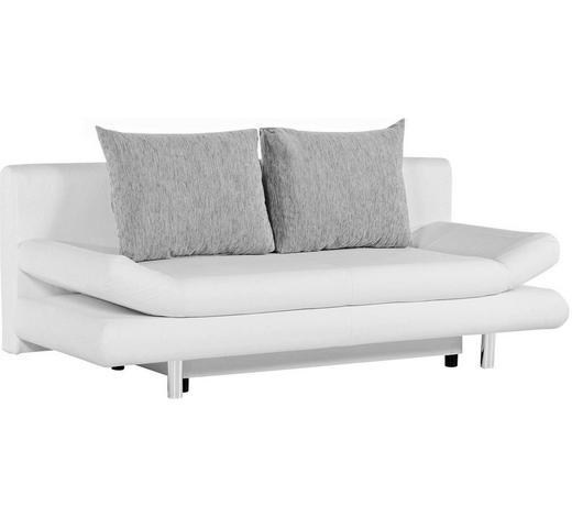 SCHLAFSOFA in Textil Grau, Weiß  - Chromfarben/Weiß, Design, Kunststoff/Textil (194/73/91cm) - Carryhome