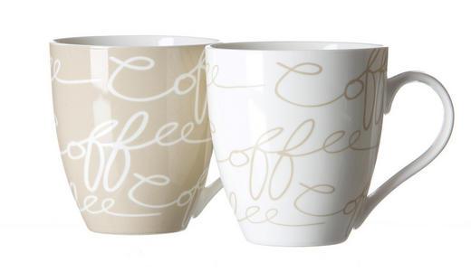 JUMBOTASSE 600 ml - Creme/Weiß, KONVENTIONELL, Keramik (0,6l) - Ritzenhoff Breker