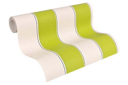 VLIESTAPETE 10,05 m - Creme/Grün, Design, Textil (53/1005cm)