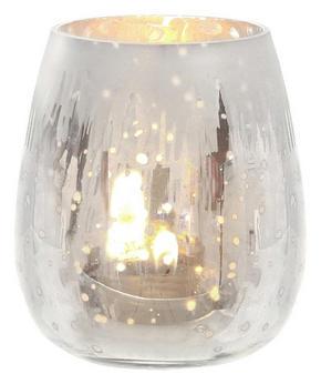 LJUSLYKTA - silver/guldfärgad, Lifestyle, glas (9/10,5cm) - X-Mas