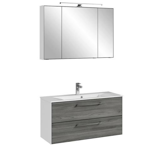 Badezimmer 2-teilig in Weiß & Grau kaufen