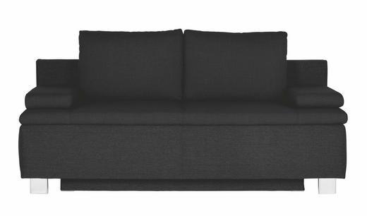 SCHLAFSOFA Schwarz - Chromfarben/Schwarz, Design, Textil/Metall (195/96/82cm) - NOVEL