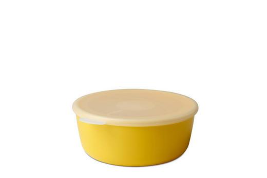 SCHALE Kunststoff - Klar/Gelb, Design, Kunststoff (19/17,2/7,2cm) - Mepal Rosti