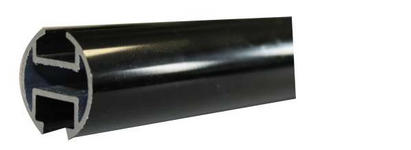 INNENLAUFSTANGE 240 cm - Schwarz, Basics, Metall (240cm) - Homeware