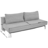 SCHLAFSOFA in Holz, Textil Grau - Eichefarben/Grau, Design, Holz/Textil (200/65/93cm) - Innovation