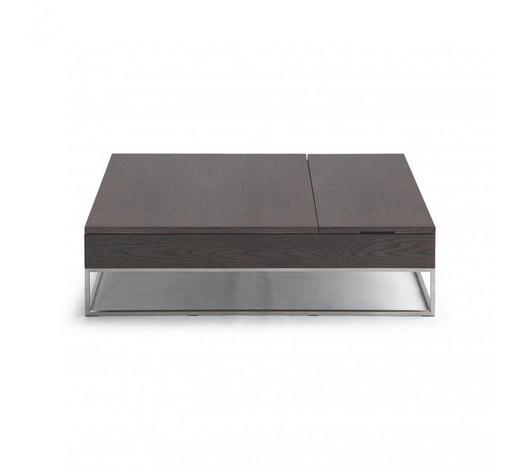 KONFERENČNÍ STOLEK - barvy ořechu, Design, kov/dřevo (120/80/35cm) - Natuzzi