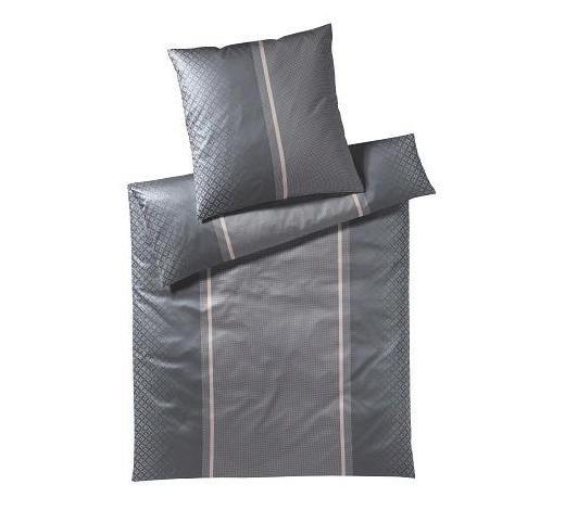 BETTWÄSCHE Makosatin Anthrazit, Grau 155/220 cm  - Anthrazit/Grau, Basics, Textil (155/220cm) - Joop!