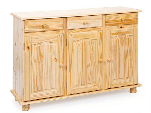 KOMMODE Kiefer massiv Naturfarben - Naturfarben, LIFESTYLE, Holz (130/87/43cm) - Carryhome