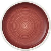 SPEISETELLER Keramik Porzellan  - Rot/Weiß, Keramik (27cm) - Villeroy & Boch