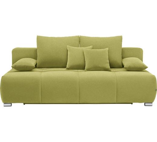 SCHLAFSOFA in Textil Grün - Chromfarben/Grün, Design, Kunststoff/Textil (212/72-90/108cm) - Hom`in