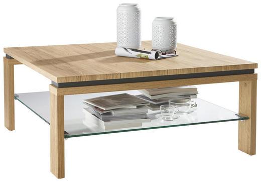 COUCHTISCH quadratisch Eichefarben - Eichefarben, Design, Glas/Holzwerkstoff (90/90/40cm) - CARRYHOME