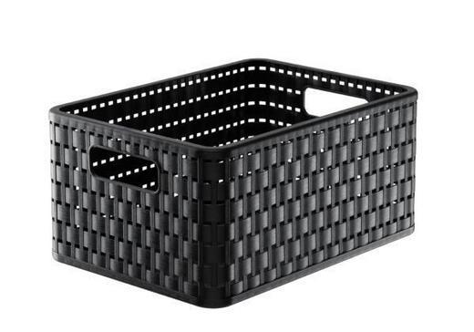 KORB - Schwarz, Basics, Kunststoff (32,8/23,8/16cm)