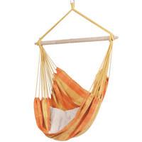 FOTELJA VISEĆA - narančasta/žuta, Design, drvo/tekstil (50/85/160cm) - AMBIA GARDEN
