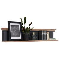 Wandboard in 142/29/20 cm Eichefarben, Graphitfarben - Eichefarben/Graphitfarben, ROMANTIK / LANDHAUS, Holzwerkstoff (142/29/20cm) - Hom`in