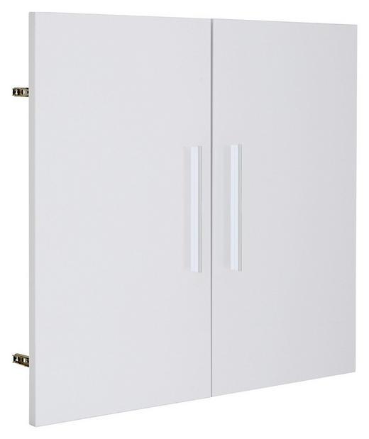 TÜR - Silberfarben/Weiß, KONVENTIONELL, Holzwerkstoff/Metall (75,6/68,1cm) - Voleo
