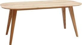 ESSTISCH Eiche massiv oval Eichefarben  - Eichefarben, KONVENTIONELL, Holz (160/90/75,5cm) - Voleo