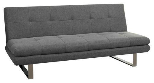 SCHLAFSOFA Webstoff Edelstahlfarben, Grau - Chromfarben/Edelstahlfarben, Design, Textil/Metall (184/82/83cm) - Carryhome