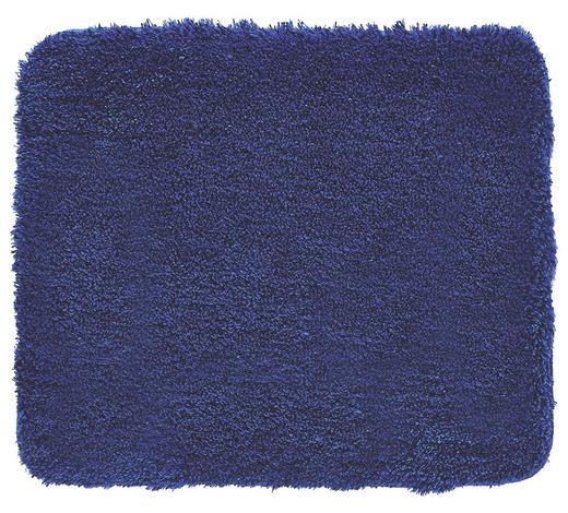 BADTEPPICH  Dunkelblau  55/65 cm     - Dunkelblau, Basics, Kunststoff/Textil (55/65cm) - Kleine Wolke