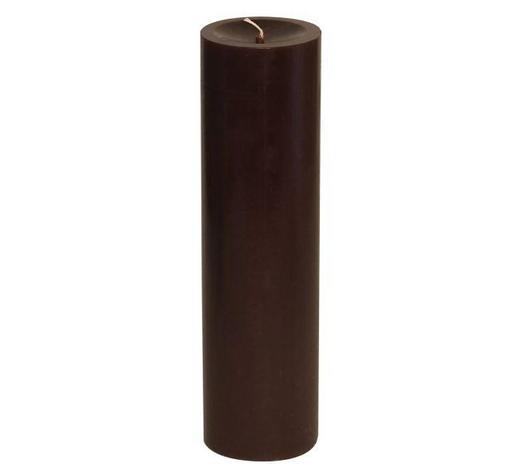 STUMPENKERZE 6,8/25 cm - Braun, Basics (6,8/25cm) - Steinhart