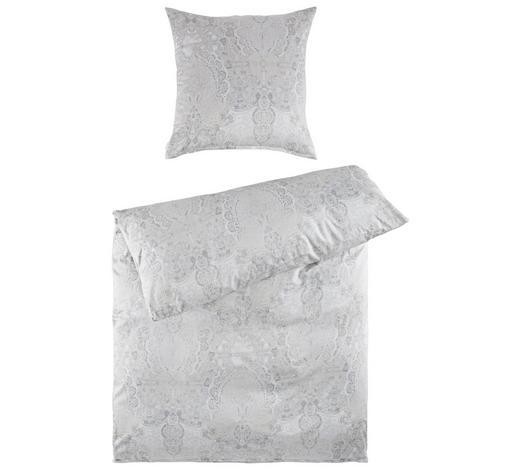 BETTWÄSCHE Makosatin Silberfarben  - Silberfarben, Design, Textil (155/220cm) - Estella