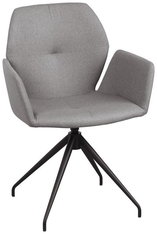 ARMLEHNSTUHL in Grau, Schwarz - Schwarz/Grau, Design, Textil/Metall (60/87/58cm) - Lomoco