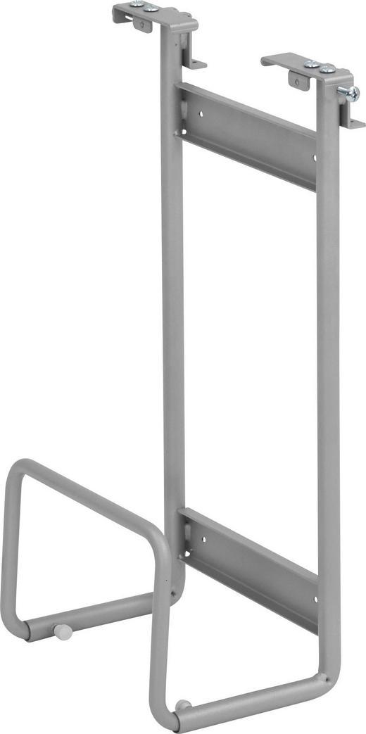 PC-HALTERUNG Metall Silberfarben - Silberfarben, MODERN, Metall (17-29/56/28cm)