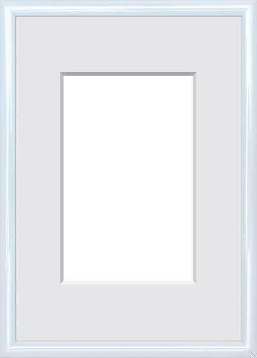BILDERRAHMEN  Weiß - Weiß, Basics, Glas/Kunststoff (11/16cm)