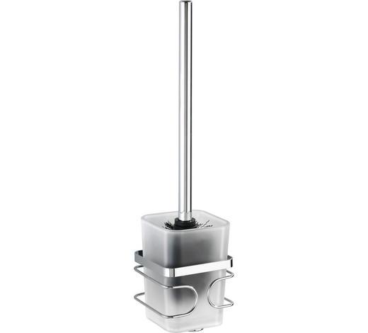 WC-BÜRSTENGARNITUR in Kunststoff - Chromfarben/Weiß, Basics, Kunststoff (9/38/10cm)