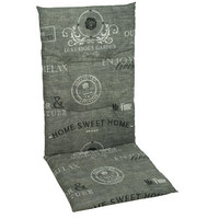 SESSELAUFLAGE in Grau - Grau, Design, Textil (118/48/5cm)