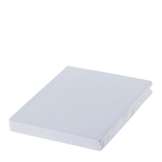SPANNBETTTUCH Zwirn-Jersey Weiß bügelfrei, für Wasserbetten geeignet - Weiß, Basics, Textil (100/200cm) - Estella