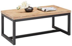 SOFFBORD - svart/akaciefärgad, Trend, metall/trä (110/44/60cm) - Zandiara